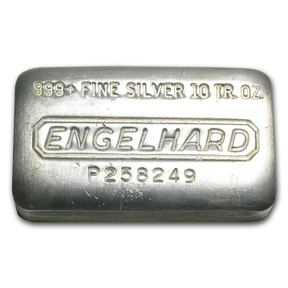 10 Oz Engelhard Silver Bar Pressed Bar Sku 35534 Ebay