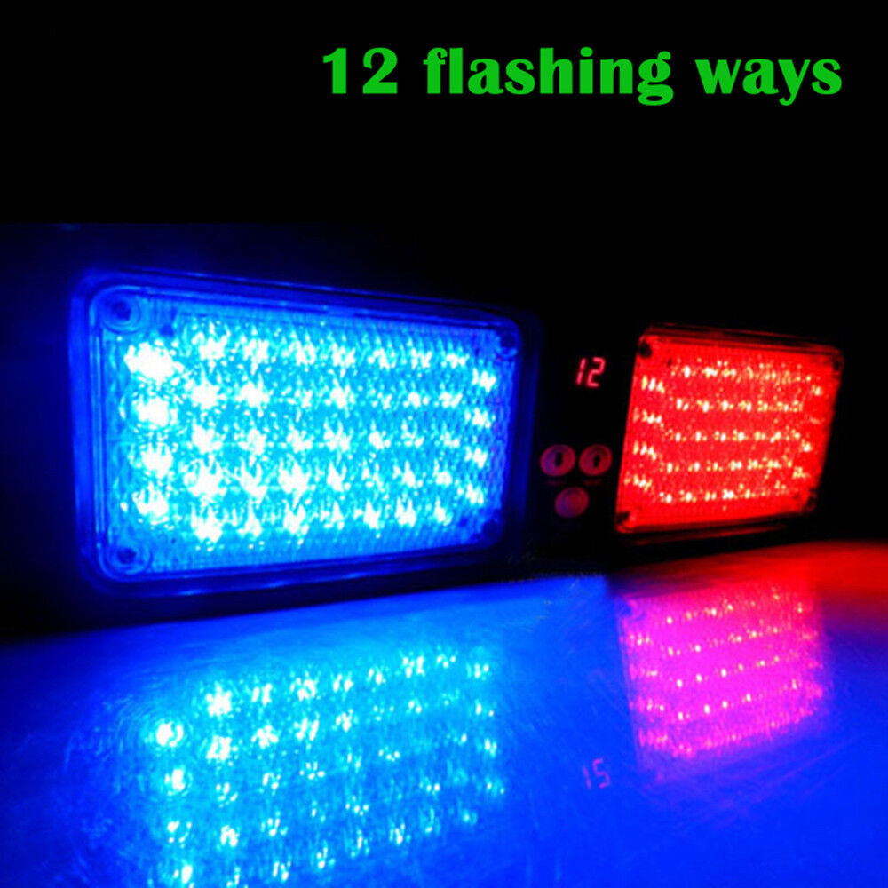 12 Modes 86 Led Emergency Warning Car Auto Visor Police