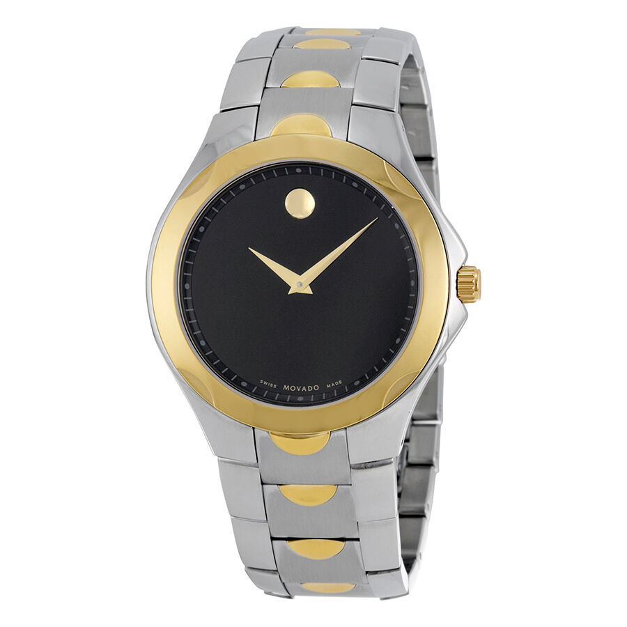 new movado luno sport two tone stainless steel black
