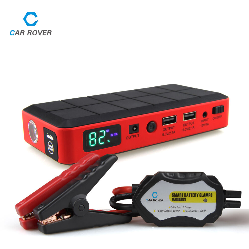 car jump starter kit 26000mah battery booster emergency power pack ebay. Black Bedroom Furniture Sets. Home Design Ideas