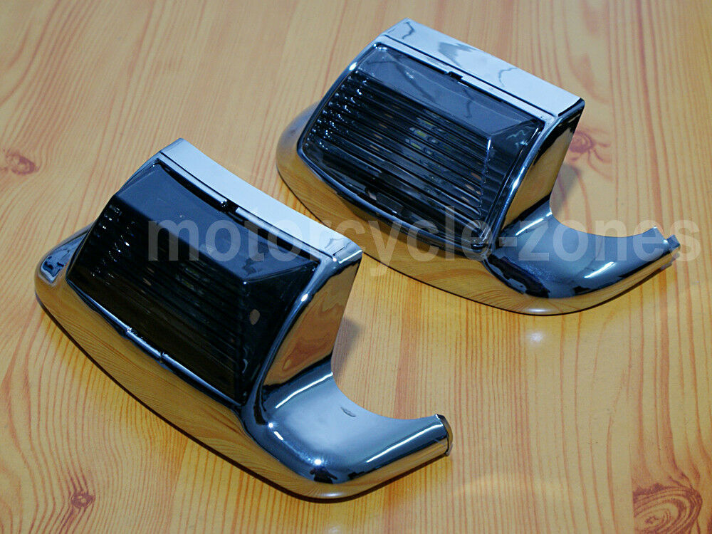 Smoke Front Rear Fender Tip Light Mudguard Trim 4 Harley