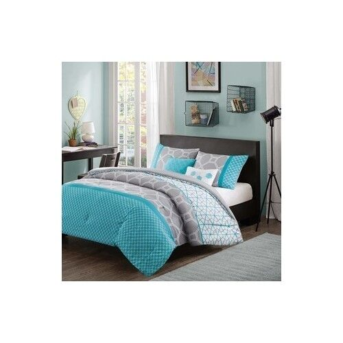 Queen full size bed bag teen girls dorm bedroom furniture for What size bed for a 10x10 room