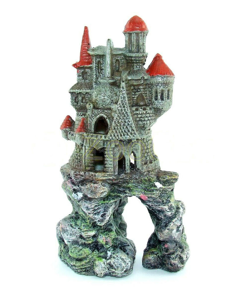 aquarium deko burg schloss festung ritterburg castel ruine aquarien dekoration ebay. Black Bedroom Furniture Sets. Home Design Ideas
