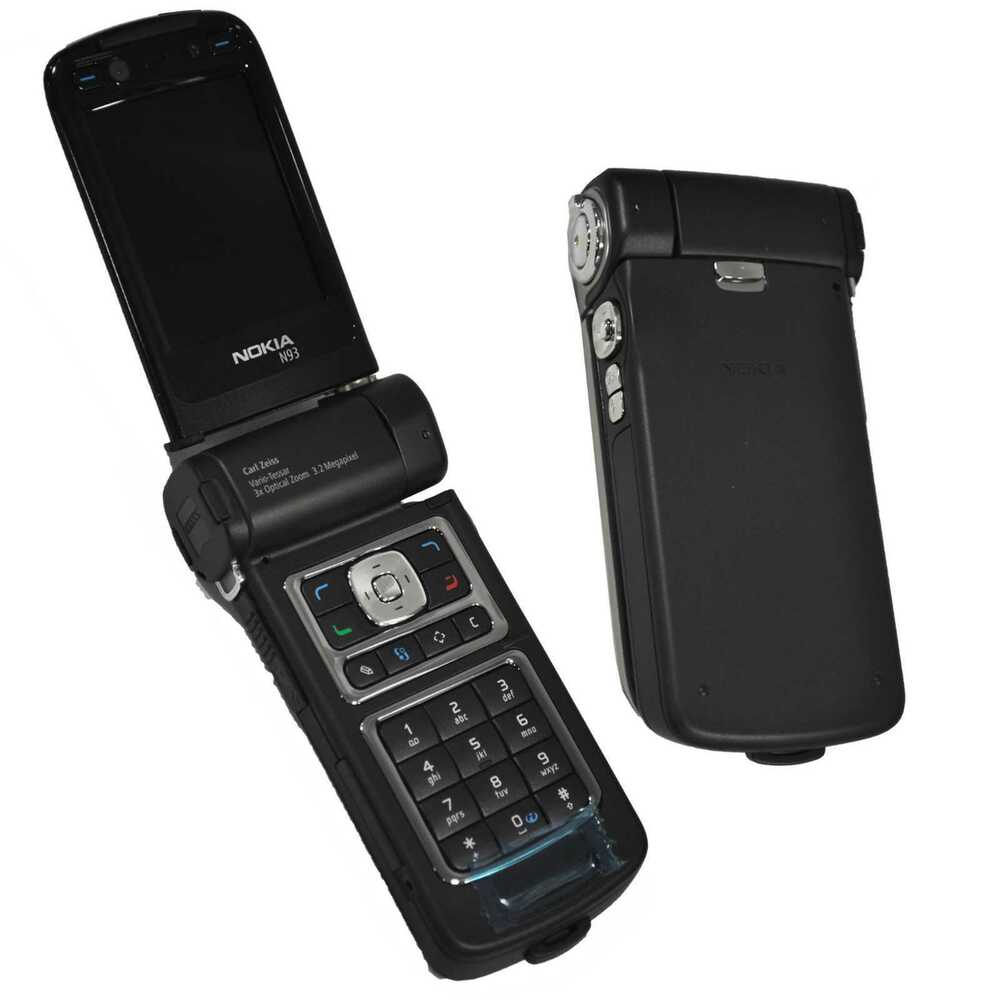 NEW NOKIA N93-1 PEARL BLACK RM-55 FACTORY UNLOCKED WITHOUT ...