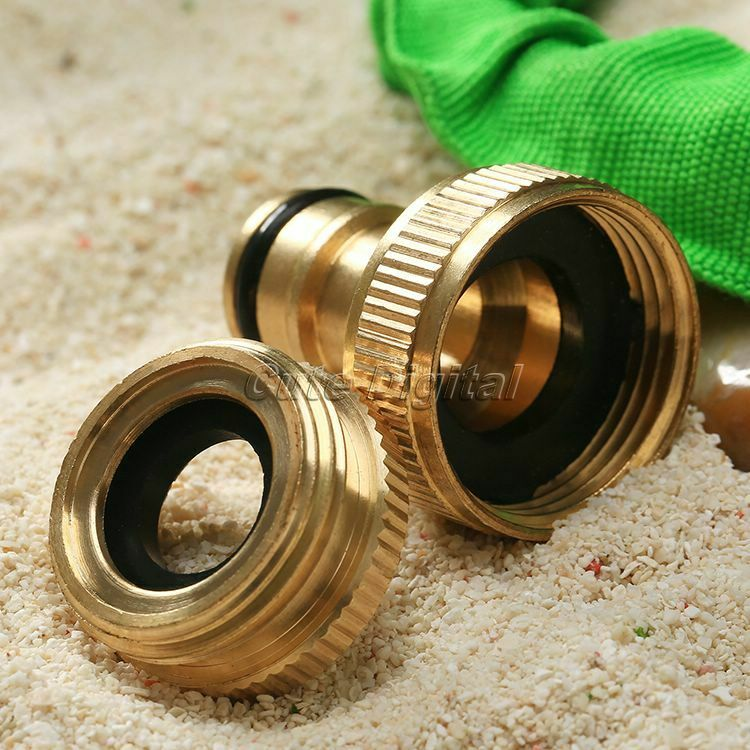 Gardening water hose pipe connector quot brass threaded