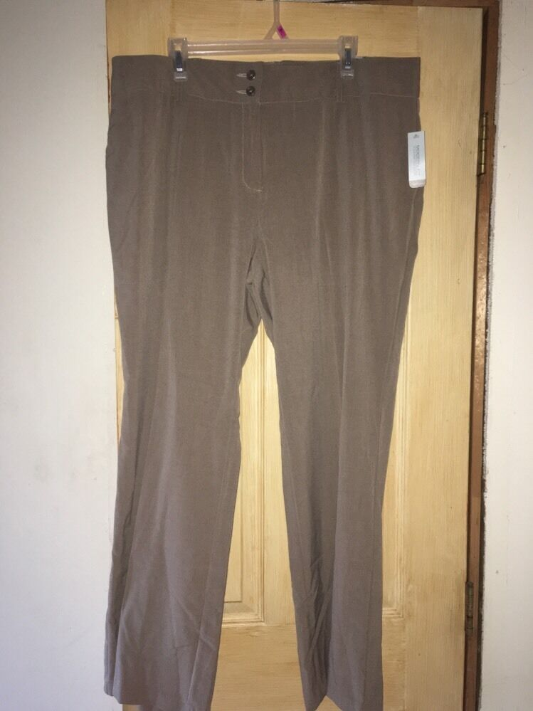 van heusen taupe pants modern fit stretch size 18 new nwt