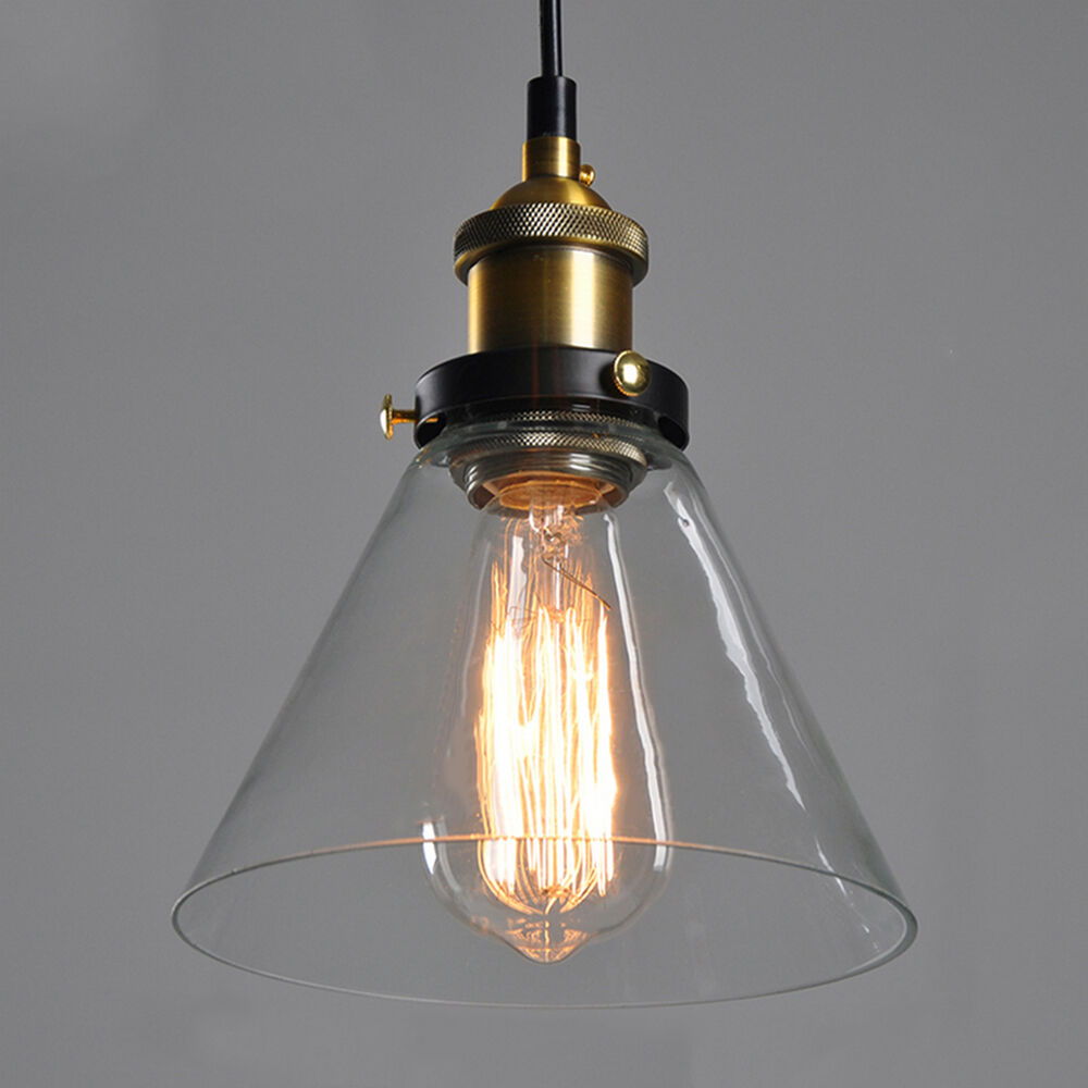 modern led glass pendant ceiling vintage light fixture chandelier edison lamp ebay. Black Bedroom Furniture Sets. Home Design Ideas