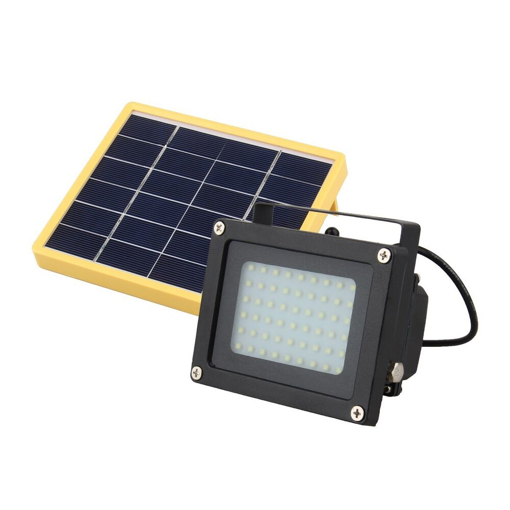 solar powered 54 led dusk to dawn sensor waterproof outdoor security flood light ebay. Black Bedroom Furniture Sets. Home Design Ideas