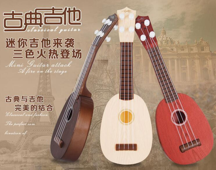 4 strings musical plastic toy ukulele small british style children 39 s guitar ebay. Black Bedroom Furniture Sets. Home Design Ideas