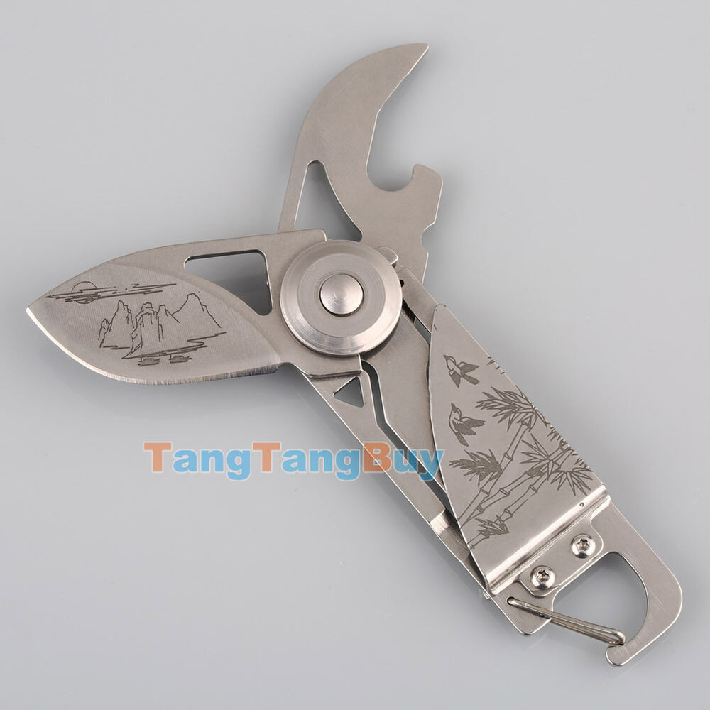 outdoor multi function bottle opener keychain camping folding pocket knife tool ebay. Black Bedroom Furniture Sets. Home Design Ideas