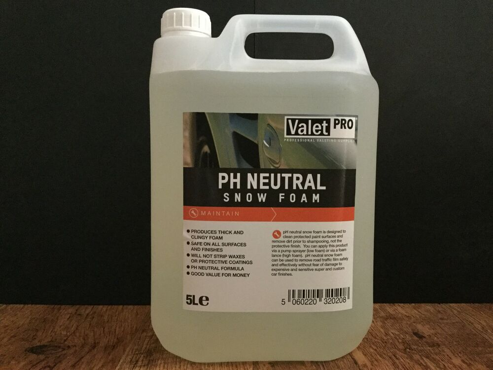 valetpro ph neutral snow foam 5 litres free car care. Black Bedroom Furniture Sets. Home Design Ideas