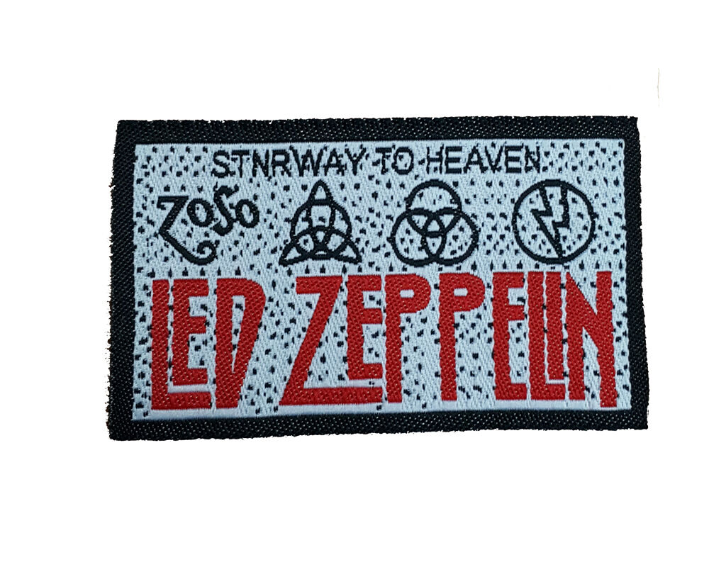 Led zeppelin embroidered rock band sew on patch uk seller