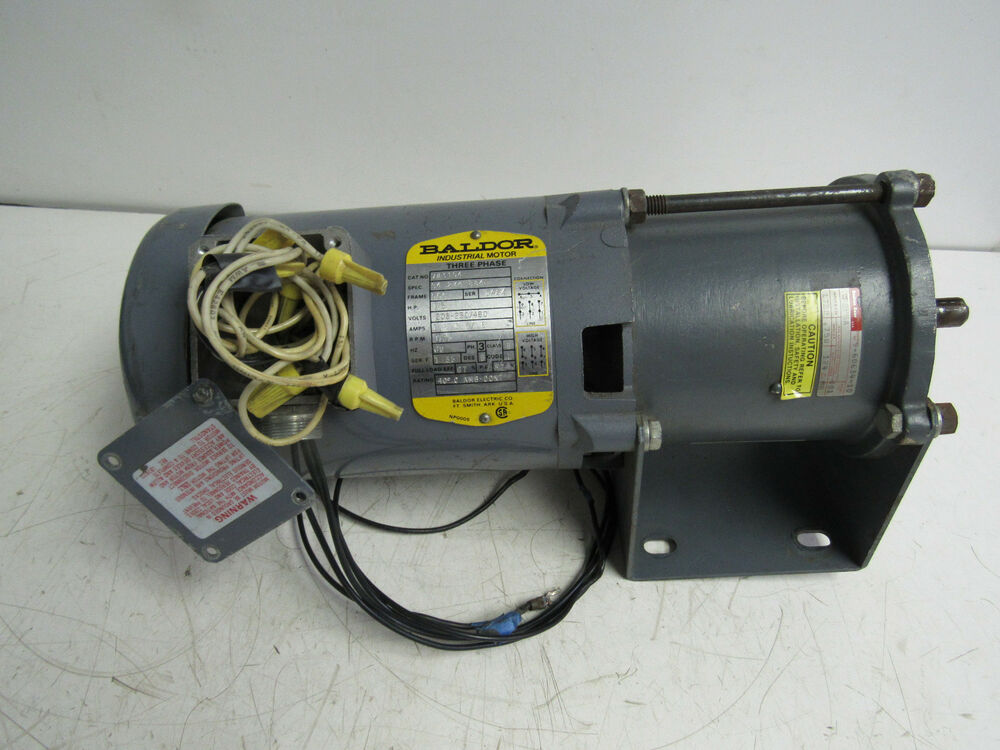 Baldor vm3104 industrial motor 1 3hp 1725rpm 1 8 1 6 8a 3 for 1 3 hp motor