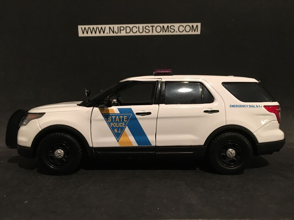 new jersey state police 1 24 scale ford interceptor suv ebay. Black Bedroom Furniture Sets. Home Design Ideas