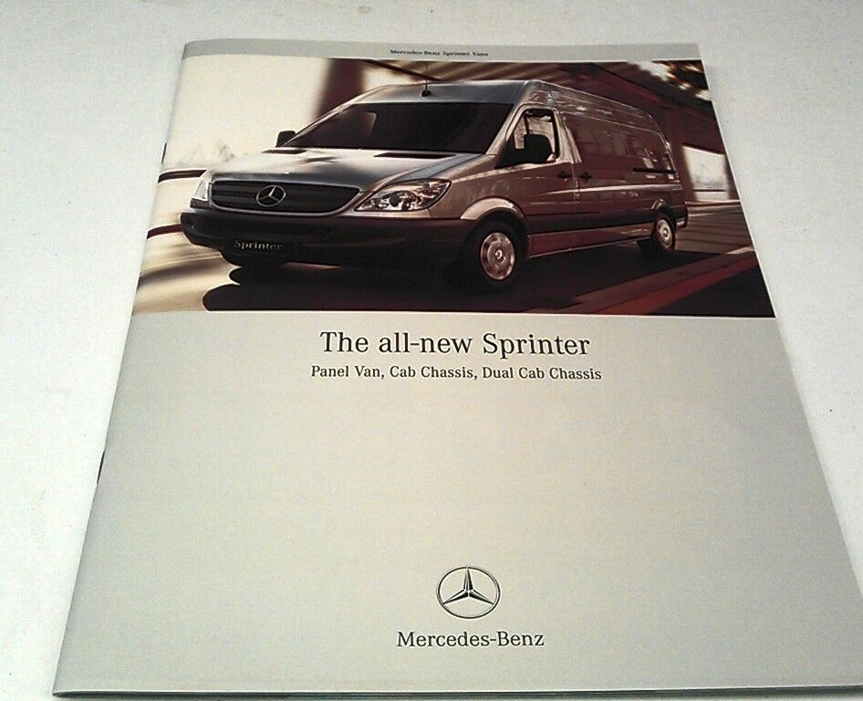 2006 mercedes benz sprinter van orig sales brochure ebay