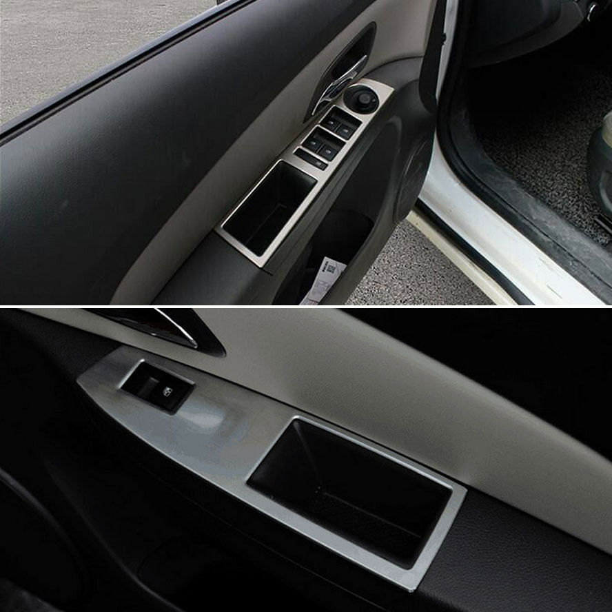 interior door window button handle panel armrest trim cover for cruze 09 2015 ebay. Black Bedroom Furniture Sets. Home Design Ideas