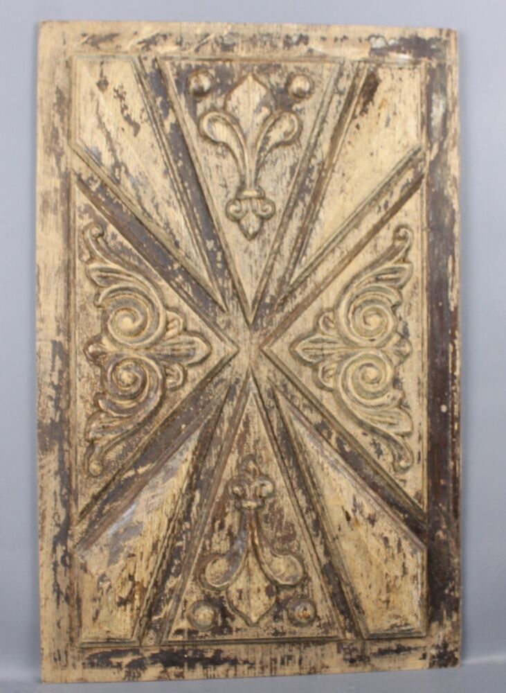 Antique french carved wood panel ebay