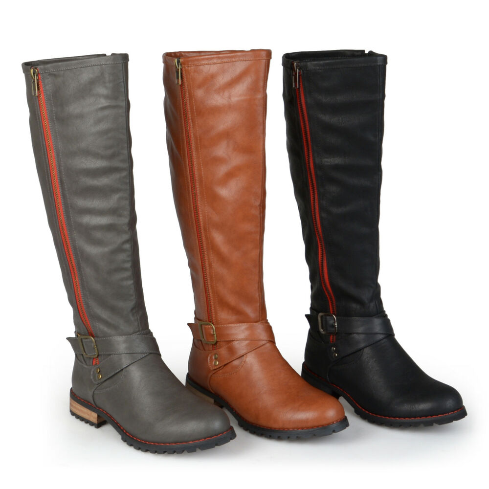 Extra Wide Calf Motorcycle Boots