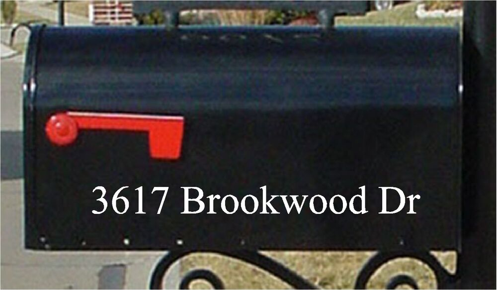 Mailbox Numbers Custom Mailbox Number And Street Name
