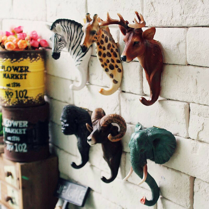 9 types of wild animal cute wall mount key holder wall hook hanger organizers ebay. Black Bedroom Furniture Sets. Home Design Ideas