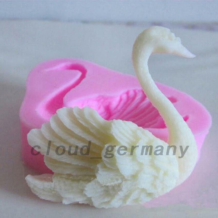Schwan schw ne backen form silikon mould fondant torte for Dekoration torte