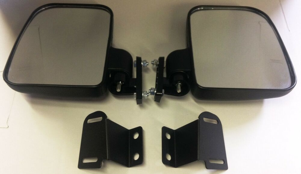 Side View Mirror Set Heavy Duty Large Size For Polaris