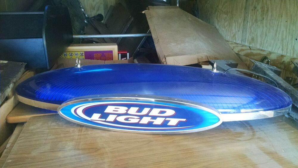 pool table light bud light man town ebay. Black Bedroom Furniture Sets. Home Design Ideas