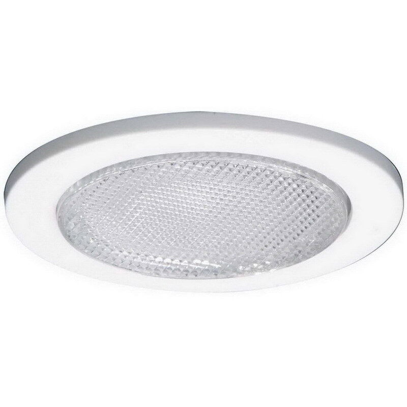 Recessed Lighting Glass Trim : Quot inch recessed can light white shower trim frosted glass