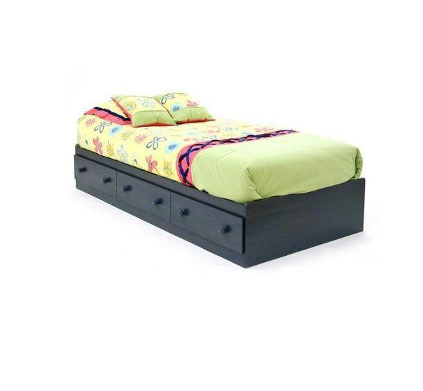 Details About White 3 Piece Storage Drawers Twin Bed Box: Twin Size Platform Storage Bed Frame 3 Drawers Sturdy Wood