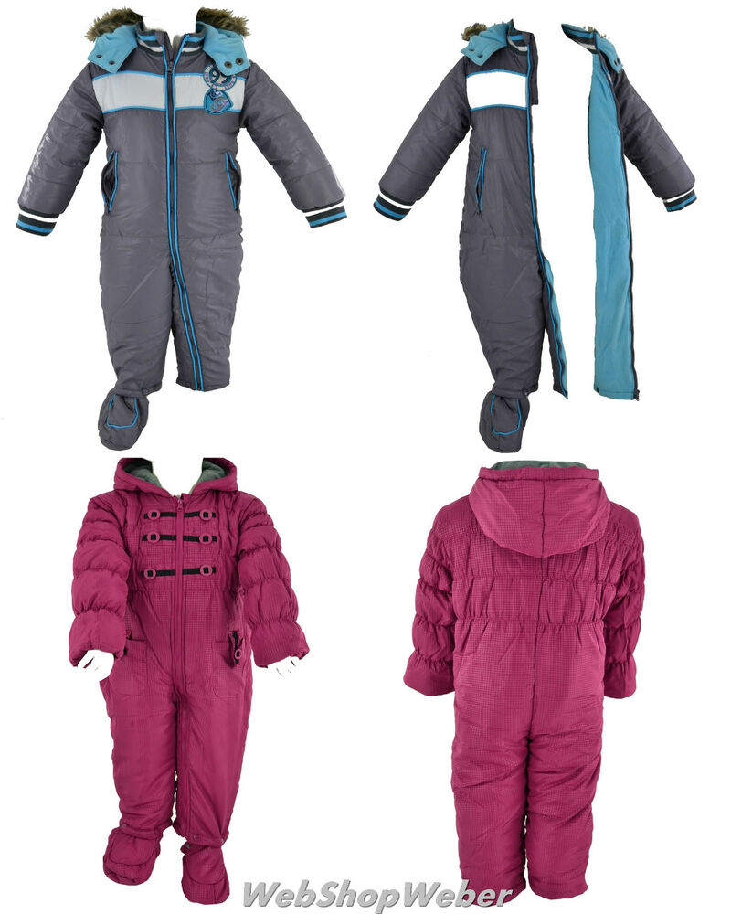 baby winteranzug kinder overall mit kapuze strampler wagenanzug schneeoverall ebay. Black Bedroom Furniture Sets. Home Design Ideas