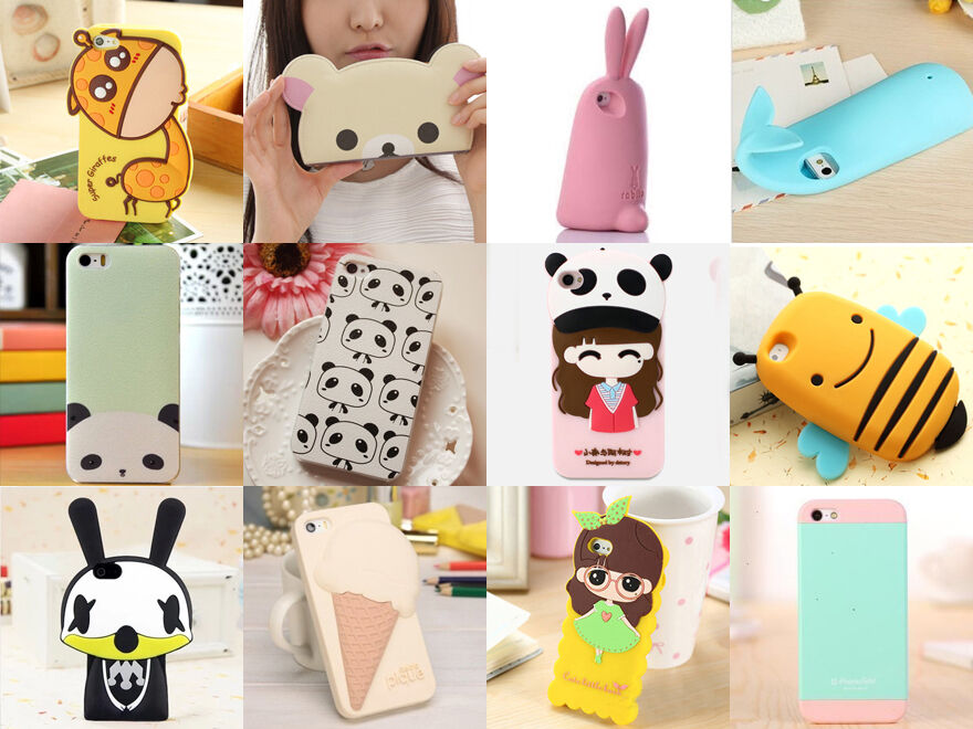 3D Cute Soft Hard Animal Silicone Phone Case Cove For ...