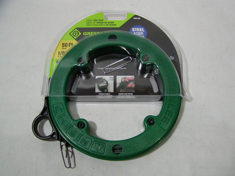 1 greenlee 438 5h steel fish tape 50 foot 1 8 free for Steel fish tape