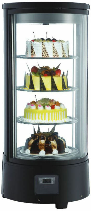 Omcan Rs Cn 0072 R Countertop Glass Refrigerated Display Case For Cakes Amp Pies Ebay