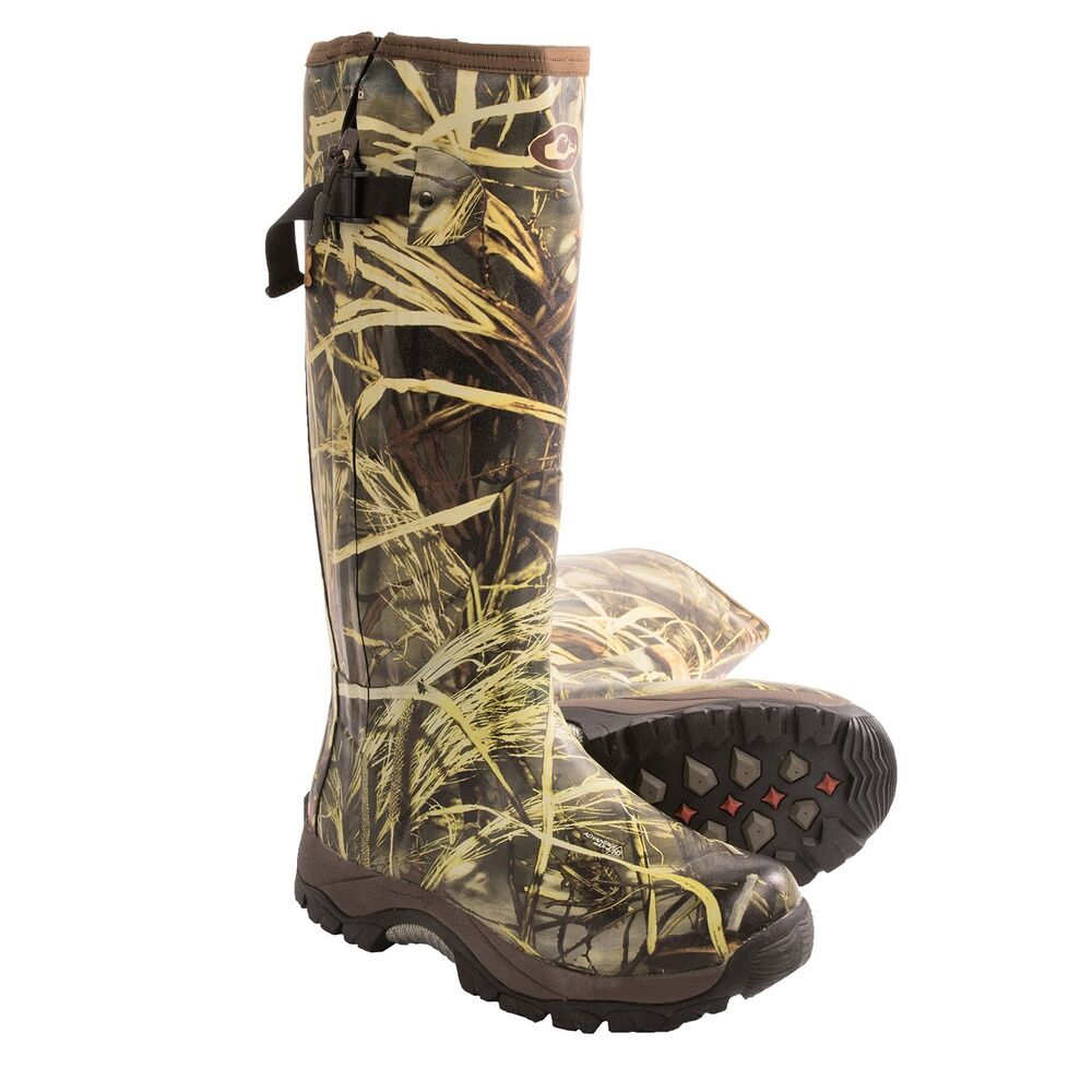 mst side zip realtree max 4 camo knee high mudder