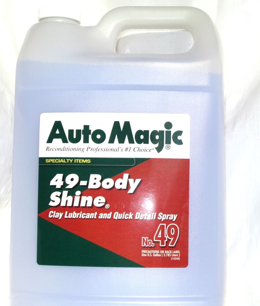 cleaner body shine by auto magic dirt remover best lubricant for clay 1 gal ebay. Black Bedroom Furniture Sets. Home Design Ideas
