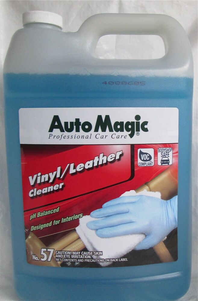 vinyl leather cleaner by auto magic deep clean but mild formula 1 gallon ebay. Black Bedroom Furniture Sets. Home Design Ideas