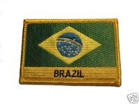 Brazil Embroidered Flag patch -Iron on or Sew