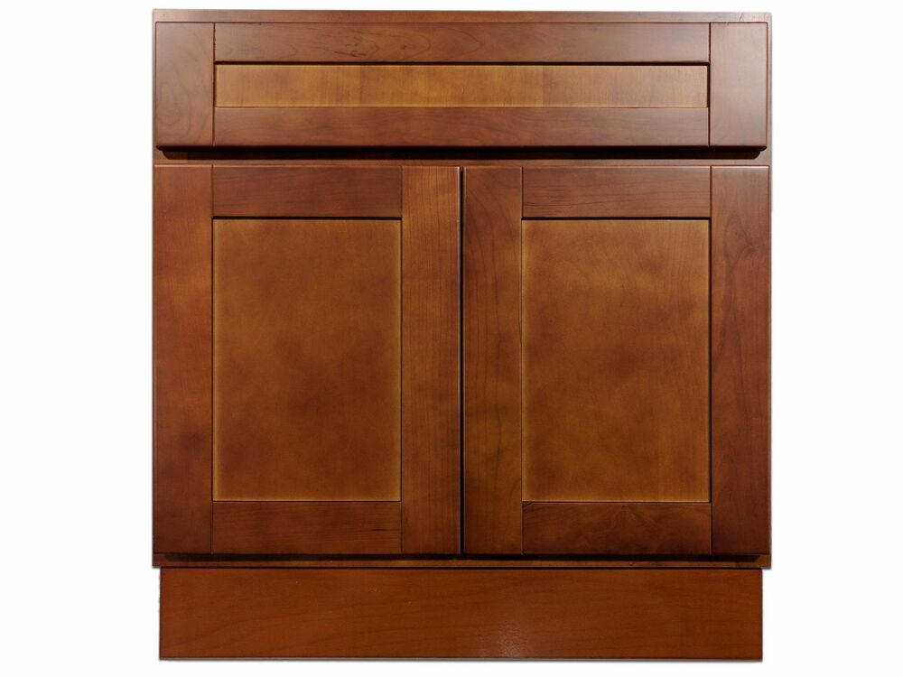 cherry bathroom storage cabinet 30 quot cherry bathroom vanity cabinet ebay 13485