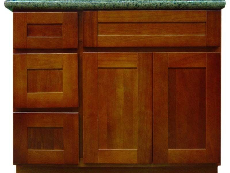 36 elegant cherry bathroom vanity cabinet w l drawers ebay