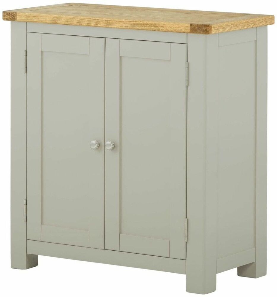Painted oak small sideboard country stone 2 door cabinet for 1 door cupboard