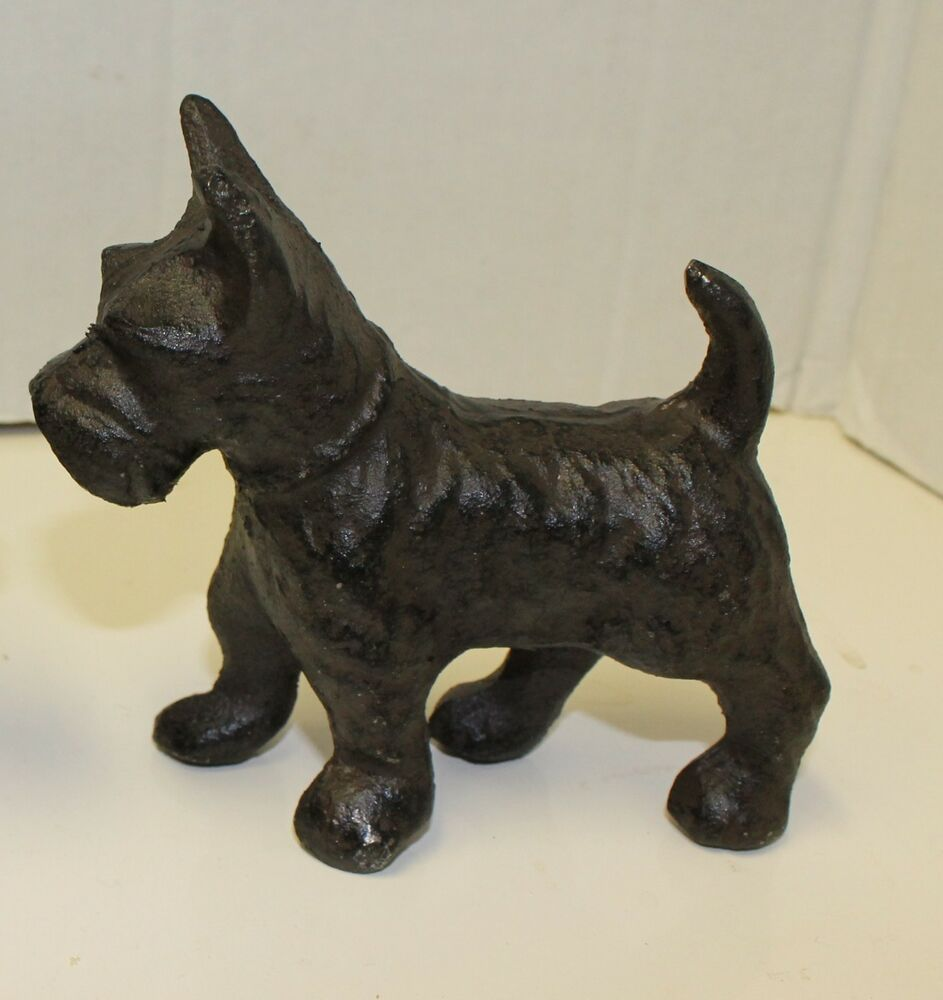 New cast iron scottish terrier doorstop paperweight or bookends scotty dog ebay - Cast iron dog doorstop ...