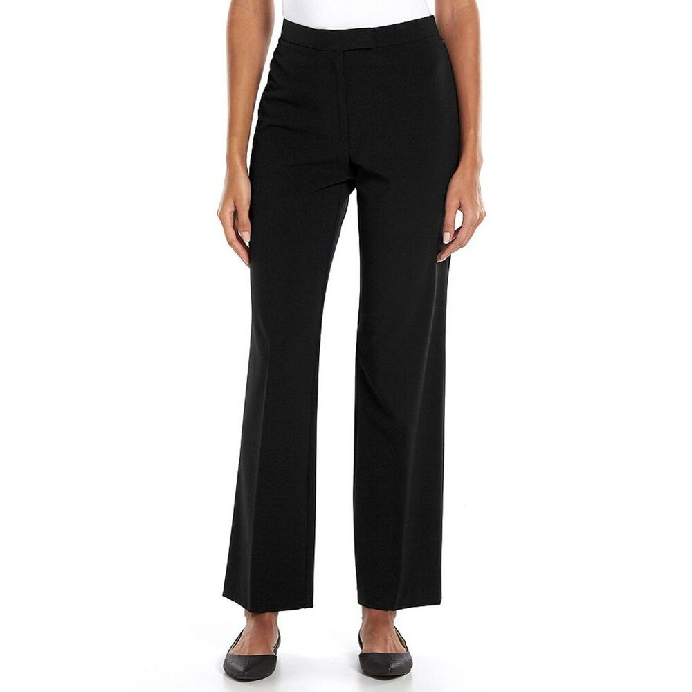 Where should petite women's dress pants fall? It may depend on the cut, but generally, our Petite Women's Dress Pants should fall at your ankles. For example, our blue Petite Mid Rise Columnist Ankle Pant should fall at the top of your ankle, a length that complements any shoe.