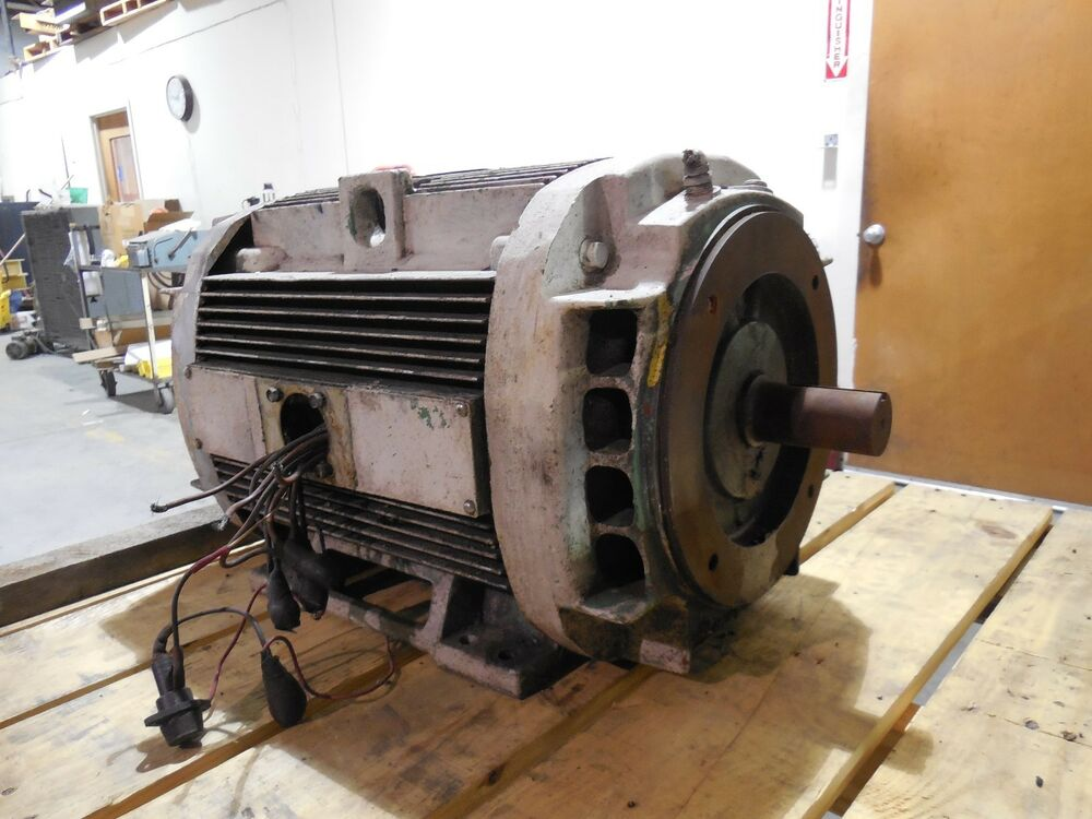 Ge general electric 15 hp motor 1185 rpm 230 460 volts 3 for 15 hp 3 phase motor