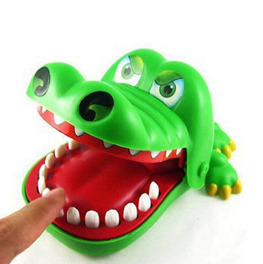 Toys For Biting : Crocodile mouth dentist bite finger game funny toy kids