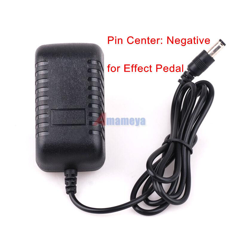 dc 9v 2a pin center negative guitar pedal effects power supply converter adapter ebay. Black Bedroom Furniture Sets. Home Design Ideas