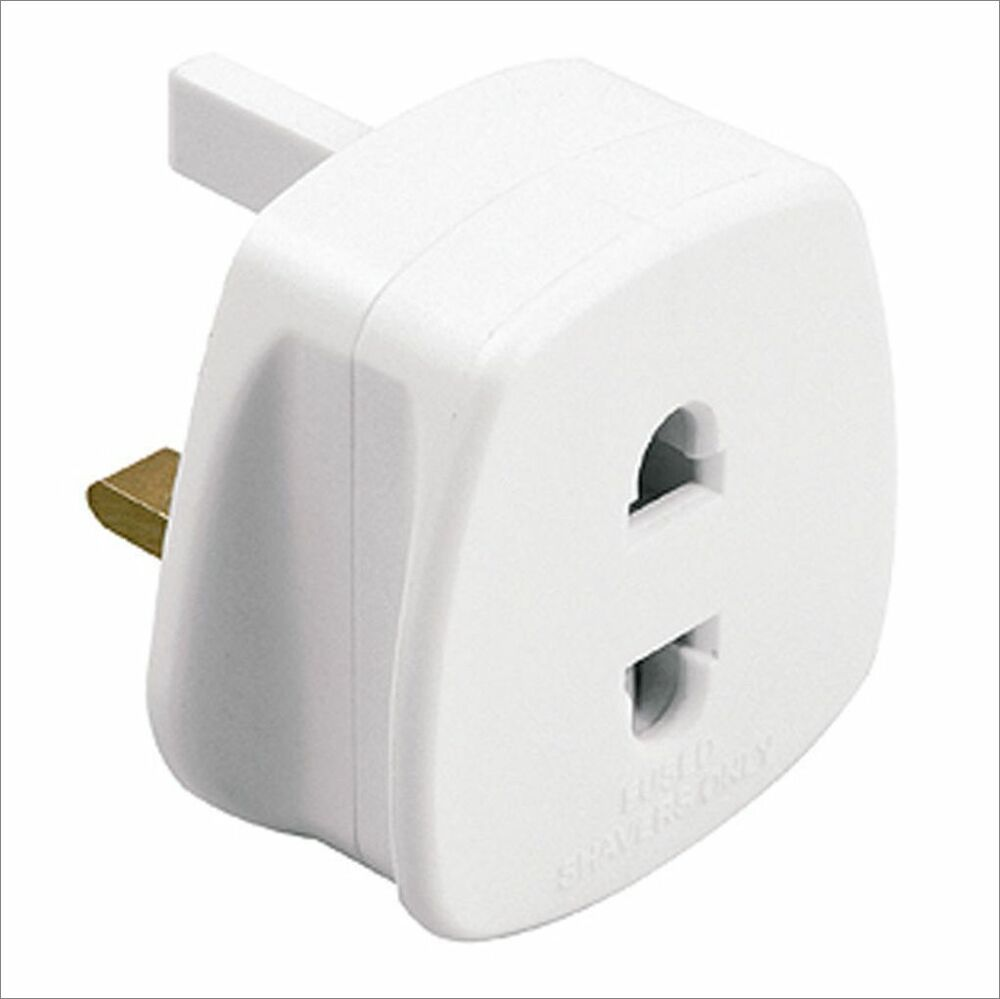 Uk Electric Shaver Toothbrush Adapter Charger Charging Converter Plug 2 To 3 Pin Ebay