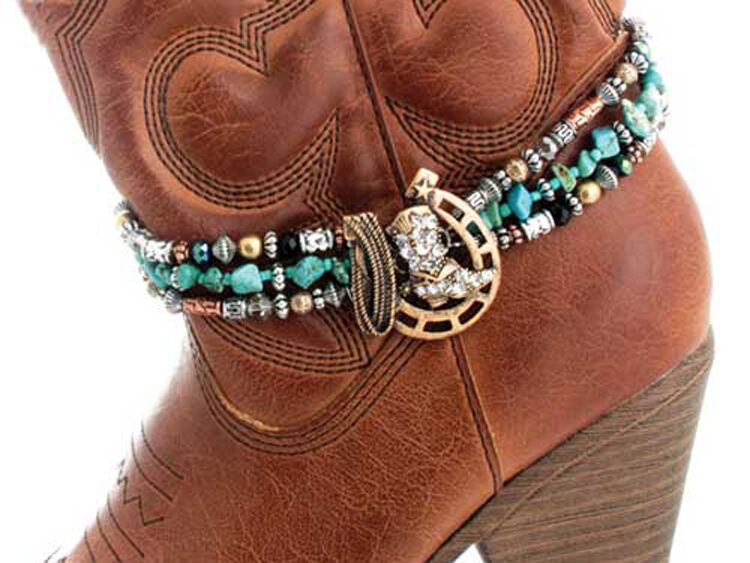 Western Cowgirl Jewelry Antique Bronze Horseshoe Faux ...