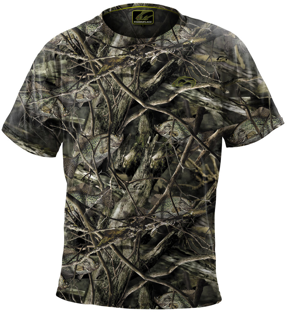 Fishouflage performance 100 polyester crappie fishing for Camo fishing shirts