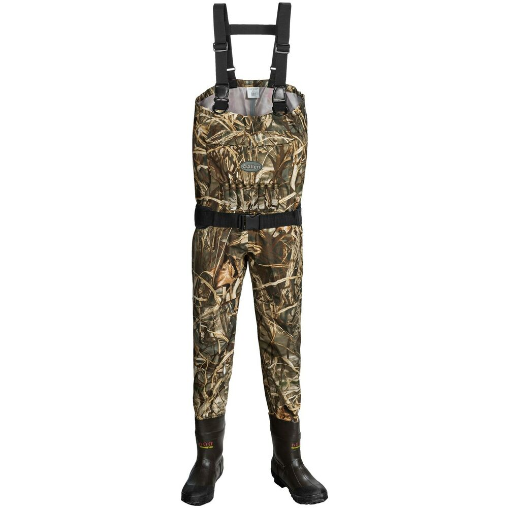 Allen co blue bill breathable camo hunting chest waders for Chest waders for fishing