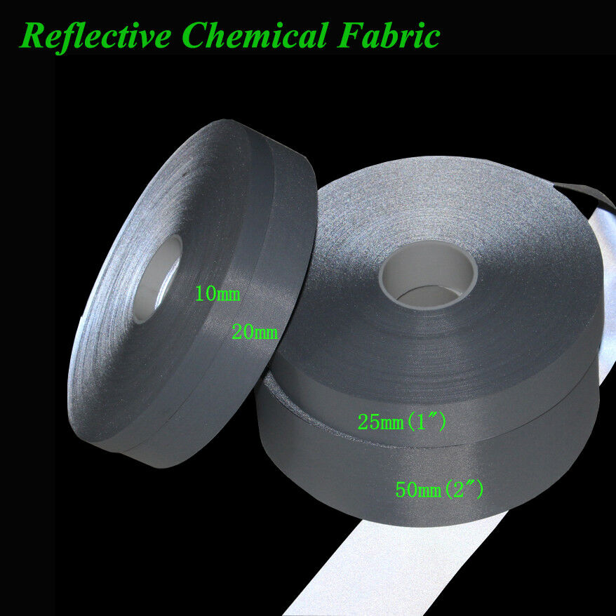 Heat Reflective Tape >> Safety Bright Silver Polyester Reflective Fabric Sew On Clothes Tape | eBay